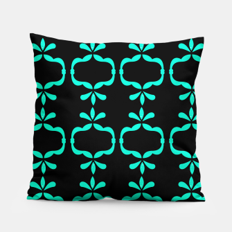 Thumbnail image of Luxury designers Art Pillow : MOROCCO CYAN, Live Heroes