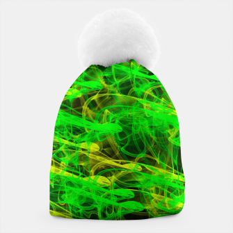 Thumbnail image of glowing art (green and yellow) Beanie, Live Heroes