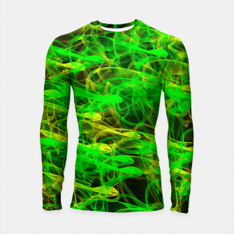 Imagen en miniatura de glowing art (green and yellow) Longsleeve Rashguard , Live Heroes