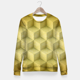 Thumbnail image of Golden cubes Fitted Waist Sweater, Live Heroes