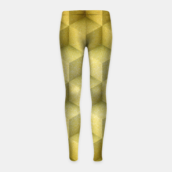 Thumbnail image of Golden cubes Girl's Leggings, Live Heroes