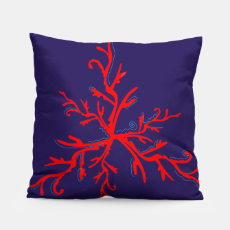 Thumbnail image of Luxury artistic Pillow : RED BLUE WILD Coral 2017, Live Heroes