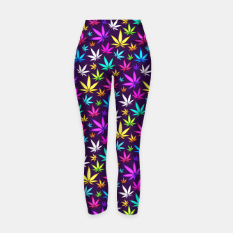 Thumbnail image of Colorful HERB Pattern Yoga Pants, Live Heroes