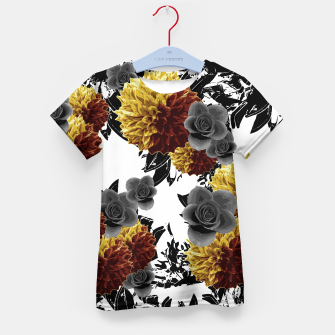 Thumbnail image of CAFFEINE FLOWERS Kid's T-shirt, Live Heroes