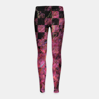 Thumbnail image of Fractal with abstract heart Girl's Leggings, Live Heroes