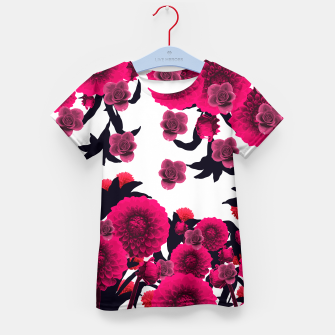 Thumbnail image of CUTE RAINING FLOWERS Kid's T-shirt, Live Heroes