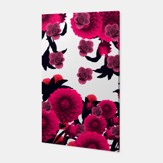 Thumbnail image of CUTE RAINING FLOWERS Canvas, Live Heroes