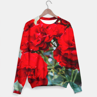 Thumbnail image of Red Roses Flowers Sweater, Live Heroes
