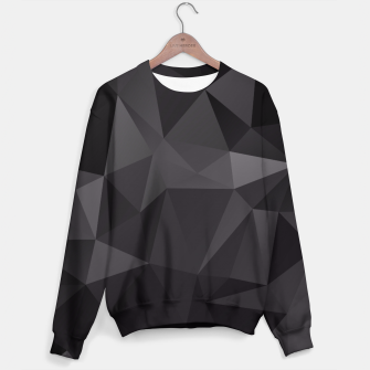 Miniature de image de Abstract of triangles polygo in black colors Sweater, Live Heroes