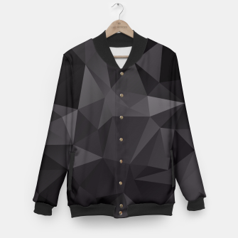 Miniature de image de Abstract of triangles polygo in black colors Baseball Jacket, Live Heroes
