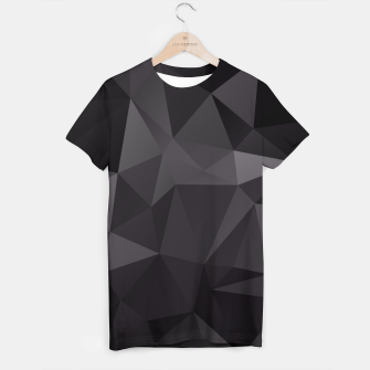 Miniature de image de Abstract of triangles polygo in black colors T-shirt, Live Heroes