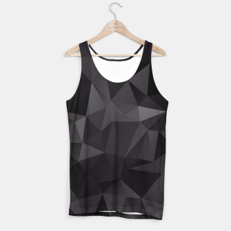 Miniaturka Abstract of triangles polygo in black colors Tank Top, Live Heroes