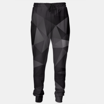 Thumbnail image of Abstract of triangles polygo in black colors Sweatpants, Live Heroes