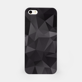 Thumbnail image of Abstract of triangles polygo in black colors iPhone Case, Live Heroes