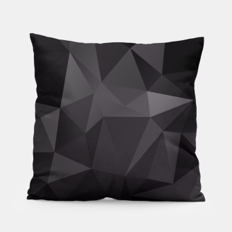 Miniaturka Abstract of triangles polygo in black colors Pillow, Live Heroes