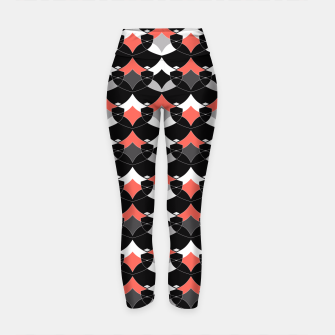 Thumbnail image of Abstract geometrical pattern Yoga Pants, Live Heroes