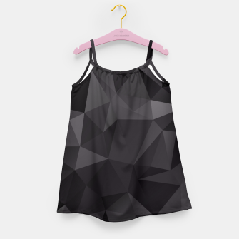 Thumbnail image of Abstract of triangles polygo in black colors Girl's Dress, Live Heroes