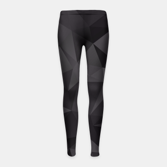 Thumbnail image of Abstract of triangles polygo in black colors Girl's Leggings, Live Heroes