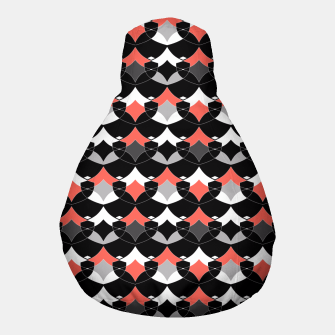 Thumbnail image of Abstract geometrical pattern Pouf, Live Heroes