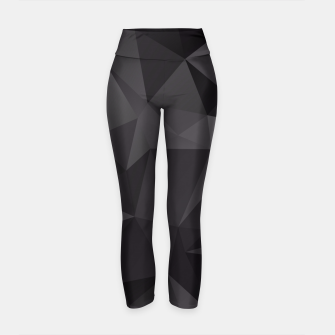 Thumbnail image of Abstract of triangles polygo in black colors Yoga Pants, Live Heroes