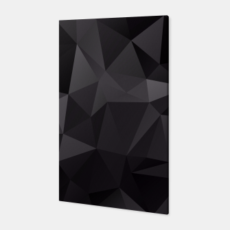 Thumbnail image of Abstract of triangles polygo in black colors Canvas, Live Heroes