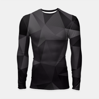 Imagen en miniatura de Abstract of triangles polygo in black colors Longsleeve Rashguard , Live Heroes
