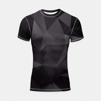 Miniaturka Abstract of triangles polygo in black colors Shortsleeve Rashguard, Live Heroes