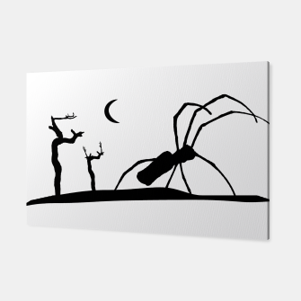 Thumbnail image of Dark Scene Silhouette Style Graphic Illustration Canvas, Live Heroes