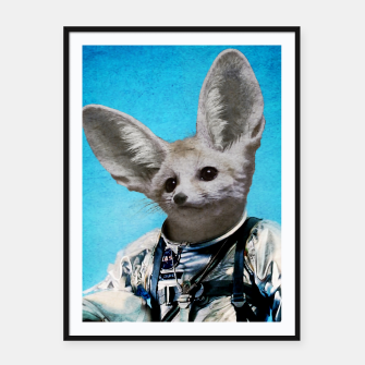 Thumbnail image of Captain Fennec Framed poster, Live Heroes