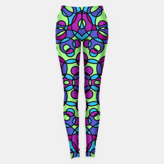 Thumbnail image of RETRO CIRCLES Leggings, Live Heroes