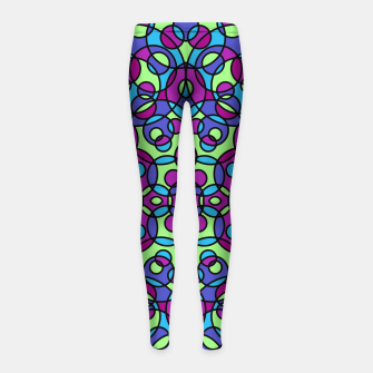 Thumbnail image of RETRO CIRCLES Girl's Leggings, Live Heroes