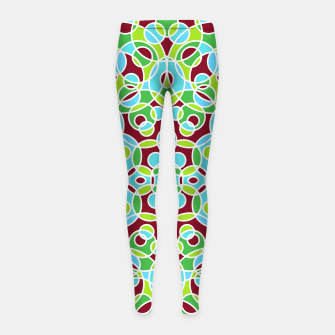 Thumbnail image of HISPTER GEOMETRIC SHAPES Girl's Leggings, Live Heroes