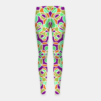 Thumbnail image of PSYCHEDELIC PATTERN  Girl's Leggings, Live Heroes