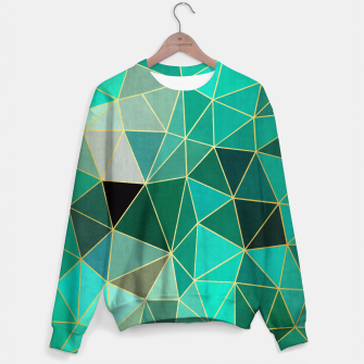Thumbnail image of  Emerald and golden pattern Sweater, Live Heroes