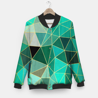 Thumbnail image of  Emerald and golden pattern Baseball Jacket, Live Heroes