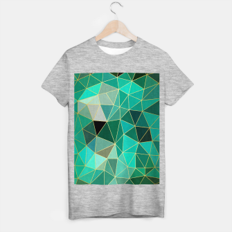 Imagen en miniatura de  Emerald and golden pattern T-shirt regular, Live Heroes