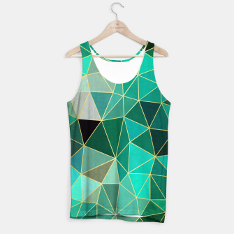 Thumbnail image of  Emerald and golden pattern Tank Top, Live Heroes