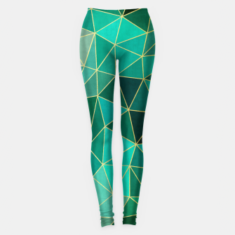 Imagen en miniatura de  Emerald and golden pattern Leggings, Live Heroes