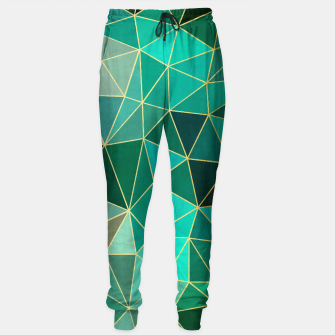 Thumbnail image of  Emerald and golden pattern Sweatpants, Live Heroes