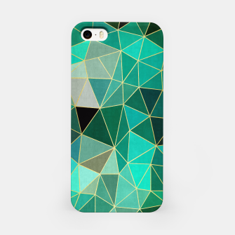 Miniaturka  Emerald and golden pattern iPhone Case, Live Heroes