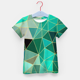Thumbnail image of  Emerald and golden pattern Kid's T-shirt, Live Heroes