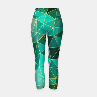 Thumbnail image of  Emerald and golden pattern Yoga Pants, Live Heroes
