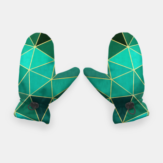 Thumbnail image of  Emerald and golden pattern Gloves, Live Heroes
