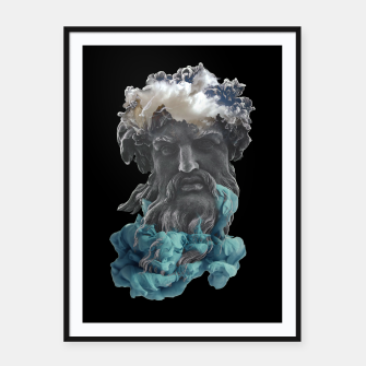 Thumbnail image of Zeus Framed poster, Live Heroes
