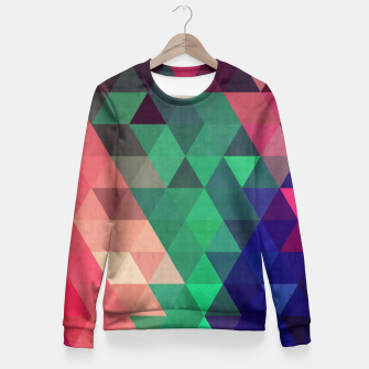 Miniaturka Colorful and geometric pattern Fitted Waist Sweater, Live Heroes
