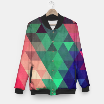 Thumbnail image of Colorful and geometric pattern Baseball Jacket, Live Heroes