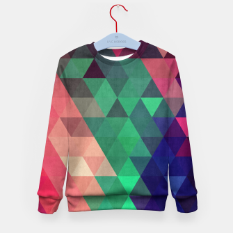 Miniaturka Colorful and geometric pattern Kid's Sweater, Live Heroes