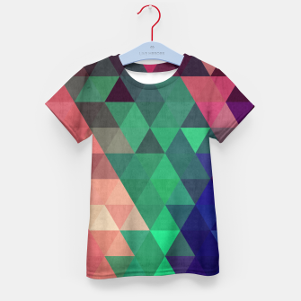 Thumbnail image of Colorful and geometric pattern Kid's T-shirt, Live Heroes