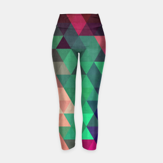 Thumbnail image of Colorful and geometric pattern Yoga Pants, Live Heroes