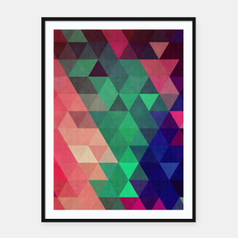 Imagen en miniatura de Colorful and geometric pattern Framed poster, Live Heroes